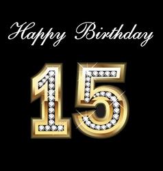 15 birthday vector image vector image