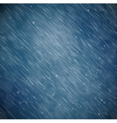 Background with rain vector image vector image