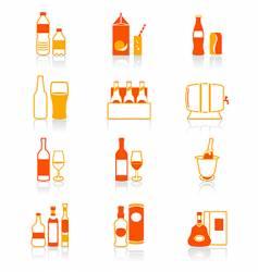 drink bottles icon juicy series vector image