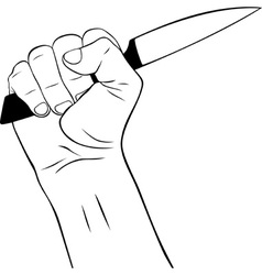Hand with Knife vector image vector image