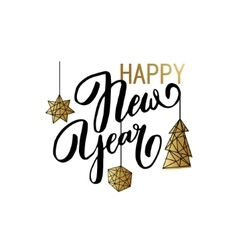Happy New Year background with stars balls noel vector image vector image