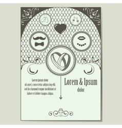 Vintage wedding invitation with place for text vector image