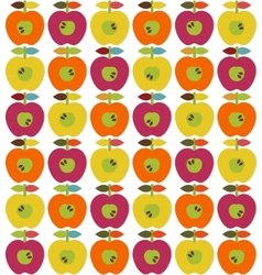 Bright apples seamless vector image