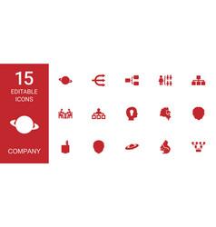 15 company icons vector