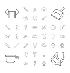 37 handle icons vector