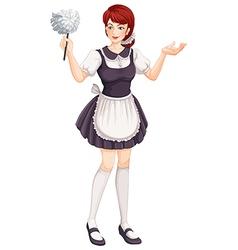 A female house helper vector image