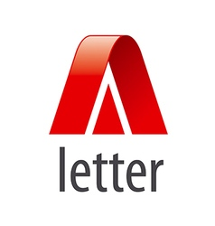 Abstract logo red letter A vector image