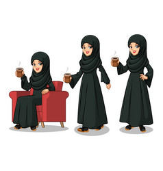 Arab businesswoman making a break vector