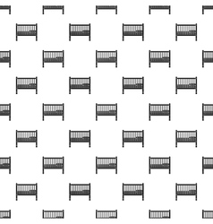 Baby bed pattern simple style vector