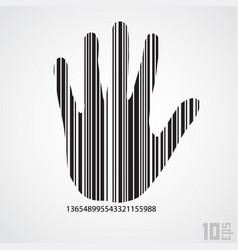 barcode hand vector image