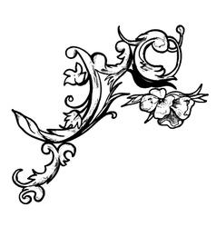 baroque floral element vector image