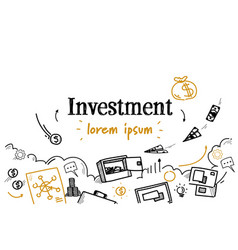 business finance investment concept sketch doodle vector image