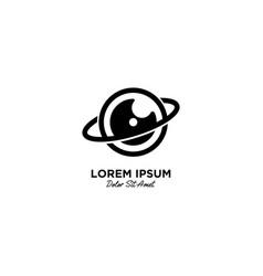 Camera planet logo icon vector