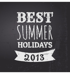 Chalkboard summer holidays vector