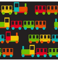 Children Train Seamless Pattern vector