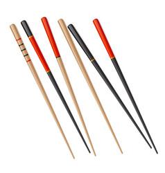 chopstick chinese sushi isolated japanese vector image