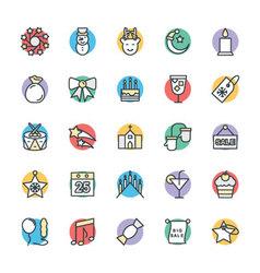Christmas Cool Icons 2 vector image