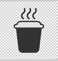 coffee tea cup icon in flat style coffee mug on vector image