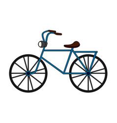 Color image cartoon antique bicycle transport vector