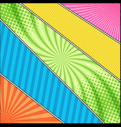 comic book colorful template vector image