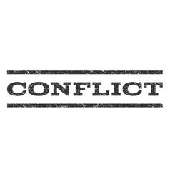 Conflict Watermark Stamp vector