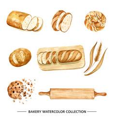 Creative bread watercolor design for decorative vector