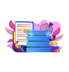 data entry concept vector image