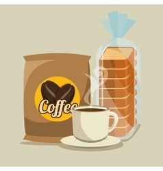 Delicious coffee time poster vector