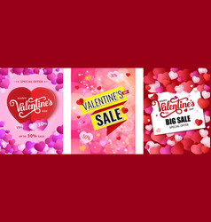 Design poster happy valentine s day valentines vector