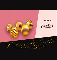 easter greeting card template on abstract vector image