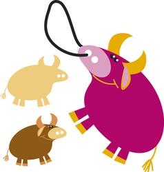 funny bull vector image