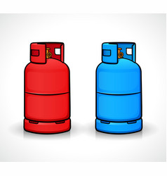 Gas cylinder isolated design vector