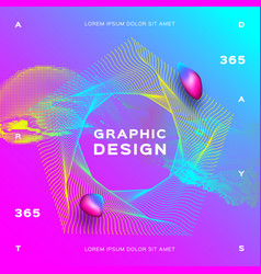 glowing particles liquid dynamic colorful vector image