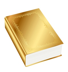 Gold book vector