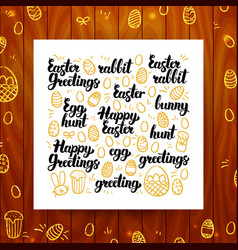 Happy easter greeting calligraphy vector