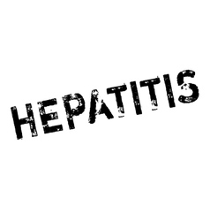 Hepatitis rubber stamp vector image