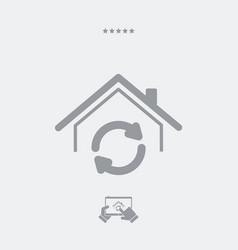 home renovation - web icon vector image