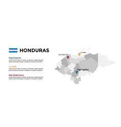honduras map infographic template slide vector image