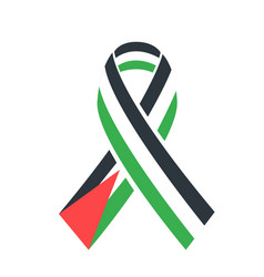 Icon flag solidarity with the palestinian people vector