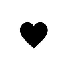 image a flat linear black heart icon vector image