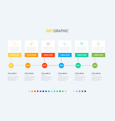 infographic template 6 steps square design vector image