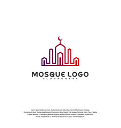 Islamic logo design mosque logo template muslims vector