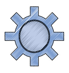 Isolated gear tool vector