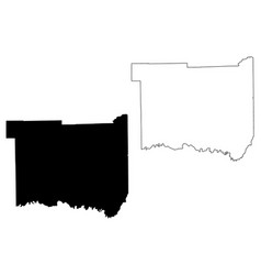 Jackson county indiana us county united states of vector