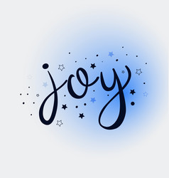 joy lettering card vector image