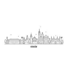 Krakow skyline poland city a vector