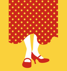 legs of flamenco dancer and typical spanish polka vector image