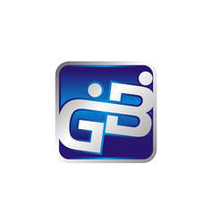 letter gb logo design template vector image