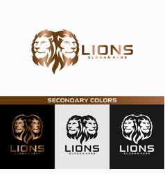 Lion head logo design vector