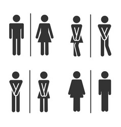male and female bathroom vector image